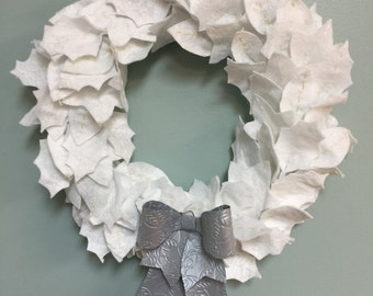 White Christmas Wreath - Custom Made - Any Color- Any Size