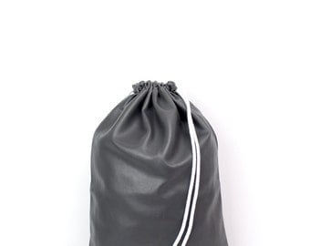 Leather imitation Grau gym Bag - hannisch