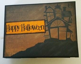 Halloween Scrapbook Paper Bag Hardcover Mini  Album