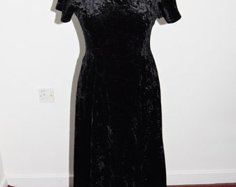 Black Velveteen Dress