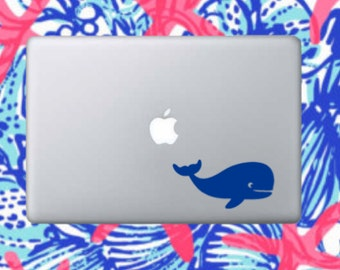 Whale decal- whale sticker-whale laptop decal-whale car decal- whale phone sticker-whale decals-yeti decals-nautical decals-nautical