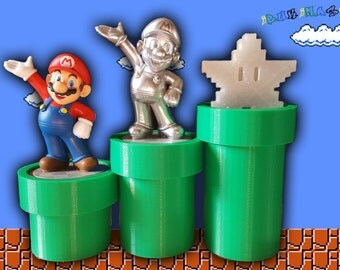Amiibo Mario Warp Pipe Stands (Set of 3)