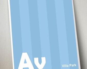 Aston Villa art digital print (A3)