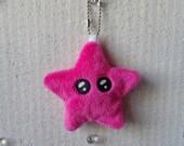 Porte-clés kawaii étoile en peluche - bijou de sac - 14 couleurs au choix