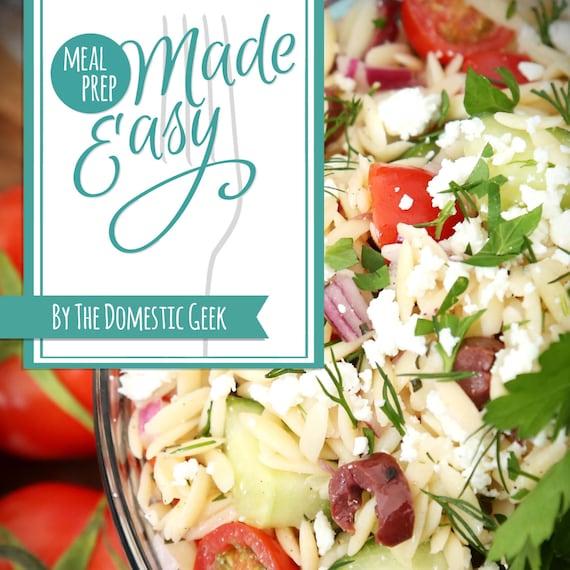 Meal Prep Made Easy eBook - MENUS 7-12