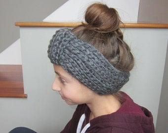 Ribbed Bow Ear Warmer