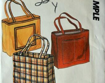 Uncut 1980s McCall's Vintage Sewing Pattern Sample; Tote Bag
