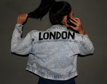 Re-constructed  LONDON MARIE vintage denim Jacket
