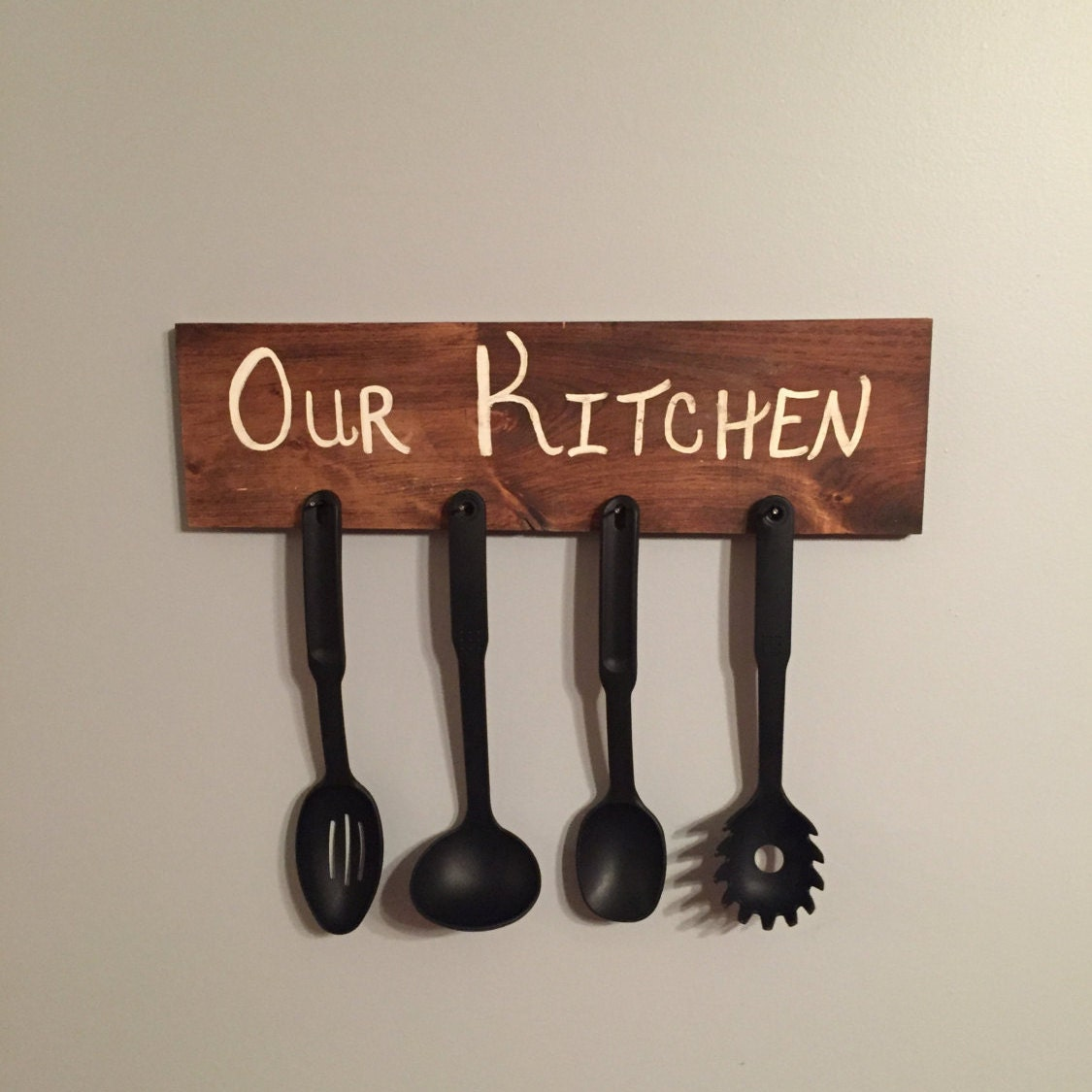Wooden Utensil Wall Decor : Kitchen wall decor wood sign utensil by