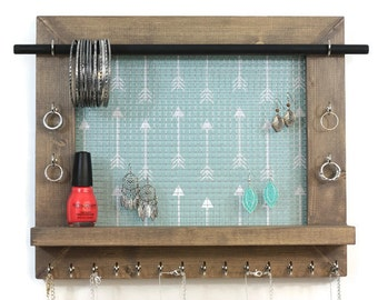 Boho Jewelry Organizer - Wall Hanging Jewelry Display - Jewelry Storage