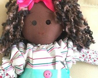 Ornamental doll, new rag doll, cloth doll, 44cm doll, quality rag doll, pretty rag doll, original rag doll, keepsake rag doll