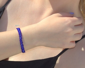 Saxed Bracelet-Cute Blue  Bracelet Danty Beaded Bracelet
