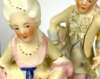 Vintage Antoinette 5012CL and Louis 5013CL Figurines By Coventry Made in the USA