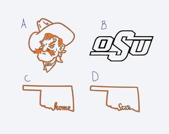 Oklahoma State University - OSU Vinyl Decals