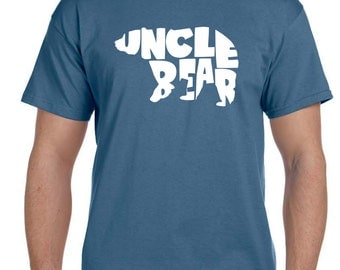 Uncle Gift Uncle Shirt Uncle Bear Shirt Funny Tees Gifts for Uncle Brother Shirt Boyfriend Gift Mens Gift Funny Tshirt Mens Birthday Gift