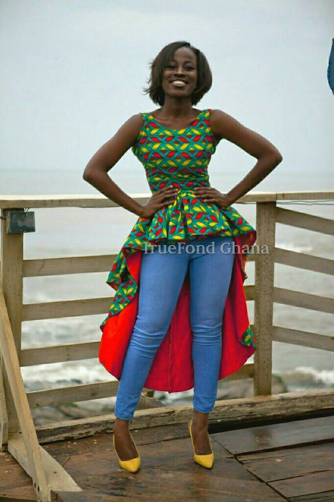 Ankara top ankara blouses african blouse african top by ... Pictures Of African Skirts And Blouses