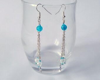 """Earrings """"Snow & Frost"""""""