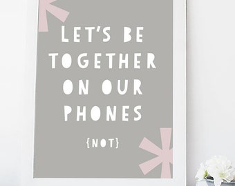 Let's be together on our phones