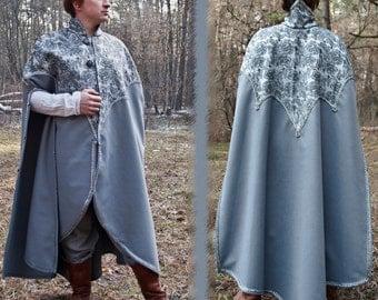 Fantasy cloak Elven cloak Fantasy mantle King mantle LARP cloak Elven garb Elven clothing Renaissance cloak silver cloak medieval wedding