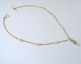 Gold Chainmaille Necklace, 2 Colours, Chainmaille Necklace, Mobius