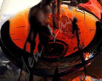 Eroticism in the Cognac 60 x 50 cm
