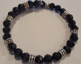 Black & Silver Wrap around Bracelet