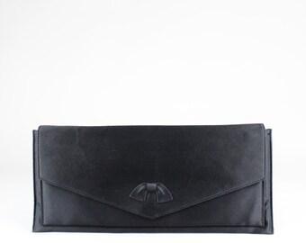 C¨¦LINE 1970s Vintage Box Bag Black Leather by OhJackieSoVintage