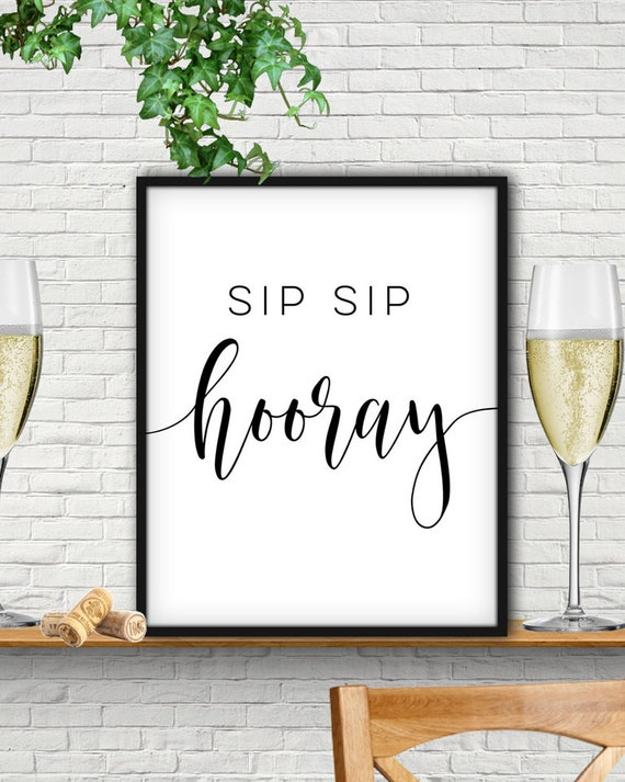 Unusual image inside sip sip hooray printable