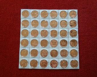 Vintage Commemorative Copper Coins 1 oz Copper Bullion 36 Piece Set