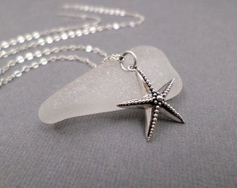 Small Starfish Necklace ~ Free Shipping ~ Sterling Silver ~ Seastar Sea Star ~ Beach Ocean Jewelry ~ Realistic Marine Nature Charm ~ 3/4""