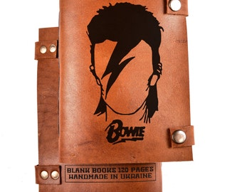 David Bowie journal - David Bowie gift - David Bowie notebook
