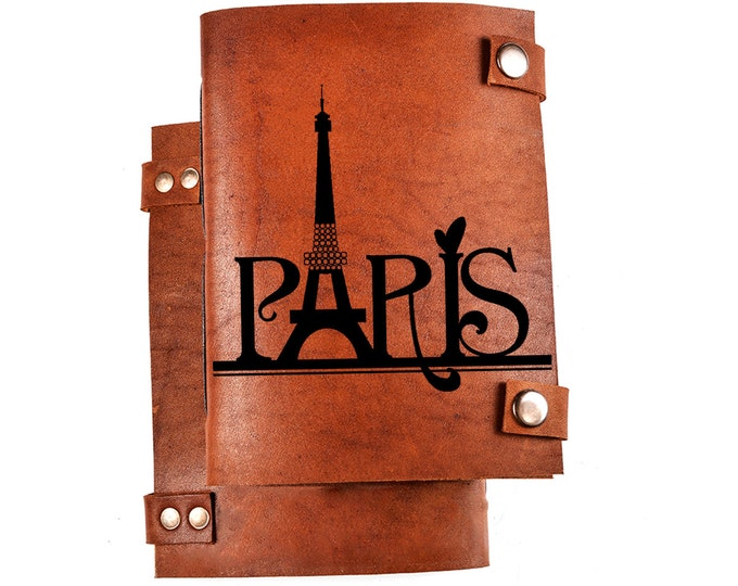 Paris notebook - Eiffel tower notebook - France notepad - Personal diary - Paris notepad - Travel notebook - Leather pocketbook