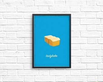 Butterscotch Krimpet Art Print / Philly Food Illustration