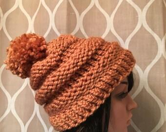 Women's Crochet Hat - Winter Hat - Hand Made - Slouchy Winter Beanie - Bulky Women's Hat