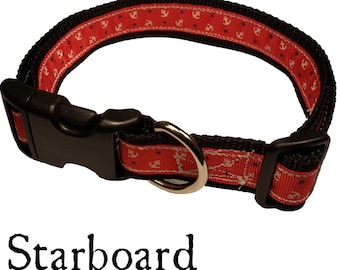 Red Starboard Dog Collar