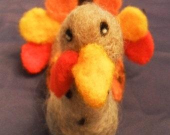 Needle Felted Wool Turkey