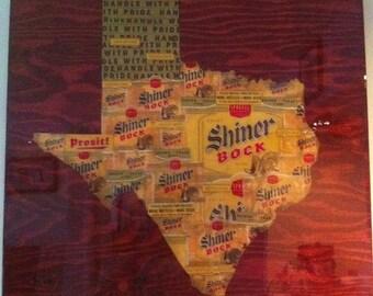 State of Texas Shiner Bock Mosaic