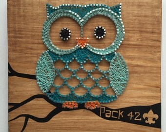 Owl String Art - Custom Made to Order
