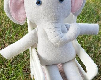 Elliot the Elephant/ Plush/ Plushie/ Softie/ Stuffed Animal/ Boy/ Girl