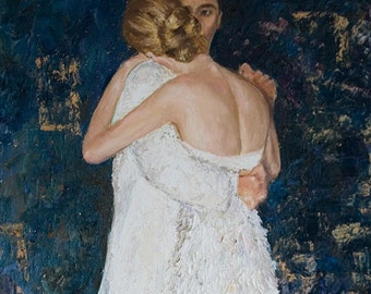 Hold me - Original Art Oil on Canvas Painting