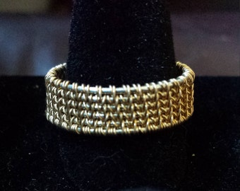 Men's Ring/Band - Gold Wire Wrapped Sz. 11