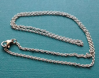 """1 Stainless Steel Cable Chain Link Necklace Base 50 CM (19.7"""" inches) - NSS2498"""