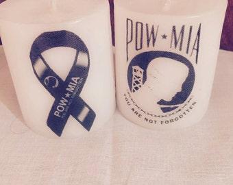 POW/MIA Memorial Candle Set of Two