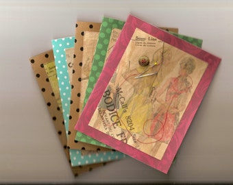 Homemade & Handcrafted All Purpose Greeting Cards - Vintage Patterns