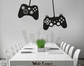 rta1093 2 Game controllers Sega Xbox 360 Game Over  Boys Gift Mans Kids Nursery Children Wall Decal Vinyl Decor Sticker Art Decor