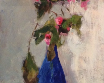 giclee fine art reproduction of an original acrylic painting of still life with flowers