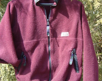 Sierra Designs Vintage Maroon Fleece 90s Clothing