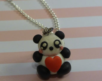 Panda Heart Necklace