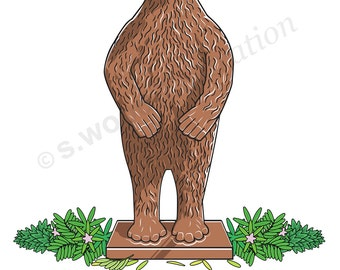 Botanical Bear Greeting Card