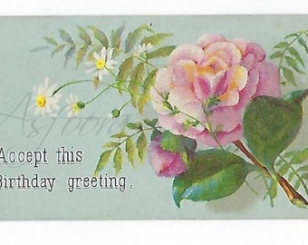 10 Victorian Floral Greetings, FG10